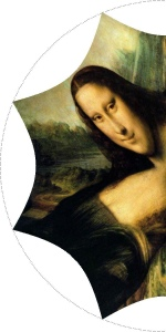 Mona Lisa as a cone projection